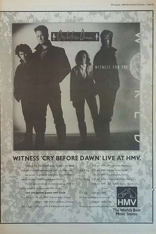 Cry Before Dawn – Witness For The World