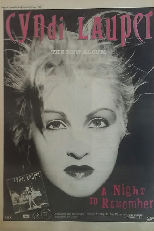 Cyndi Lauper - A Night To Remember