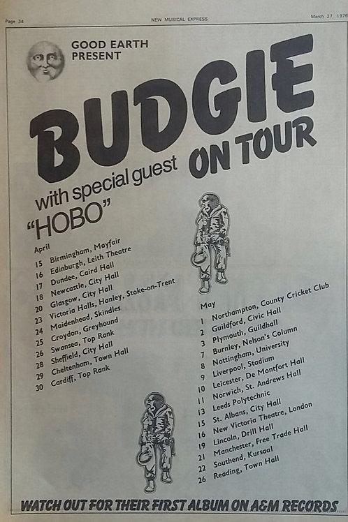 Budgie - On Tour