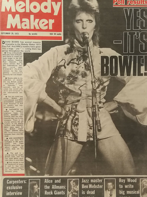 Melody Maker - David Bowie