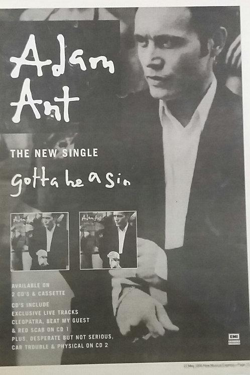 Adam Ant - Gotta Be A Sin