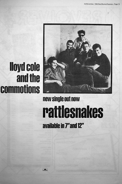 Lloyd Cole And The Commotions ‎– Rattlesnakes