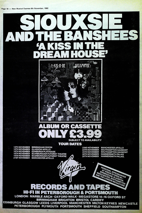 Siouxie And The Banshees - A Kiss In The Dream House