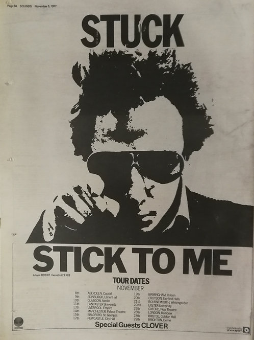Graham Parker And The Rumour – Stick To Me (Tour Dates)