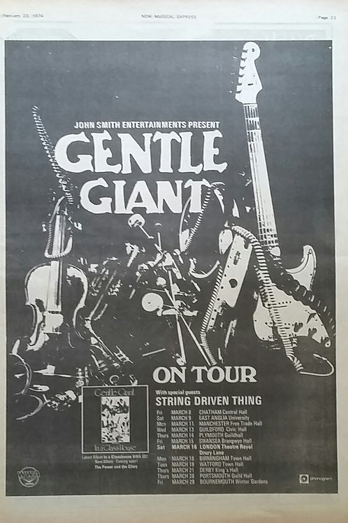 Gentle Giant - Tour