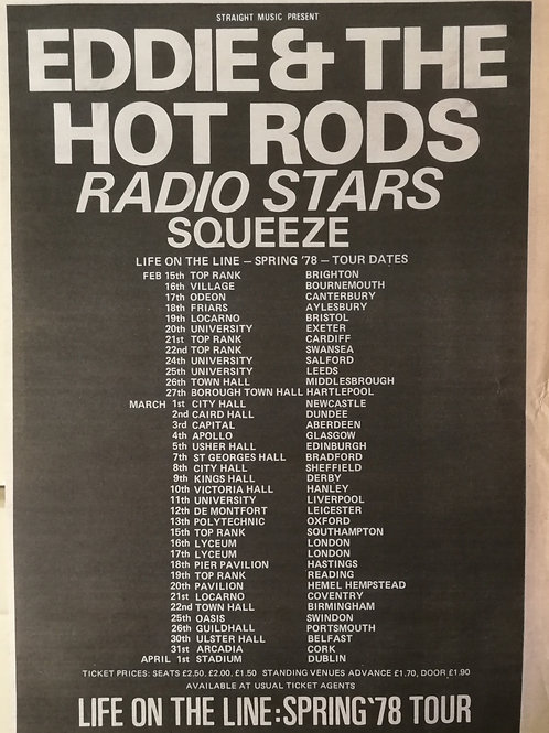 Eddie And The Hot Rods - Spring Tour 78