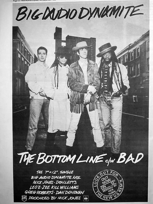 Big Audio Dynamite – The Bottom Line