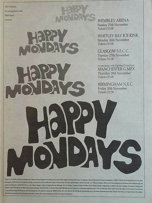 Happy Mondays - Tour