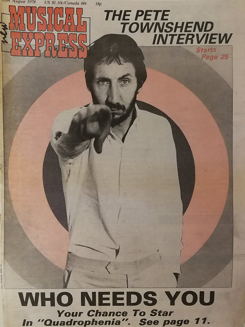New Musical Express - Pete Townshend