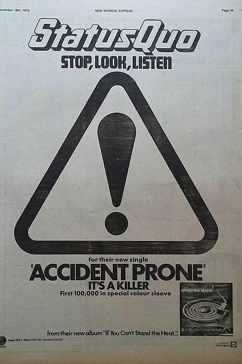 Status Quo - Accident Prone