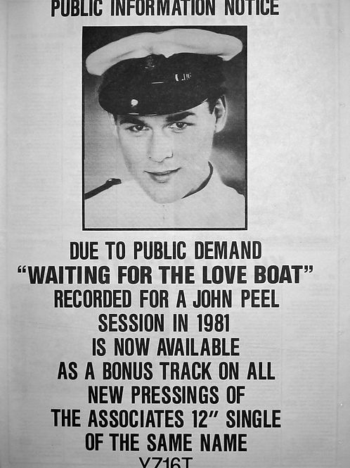 The Associates - Waiting For The Love Boat