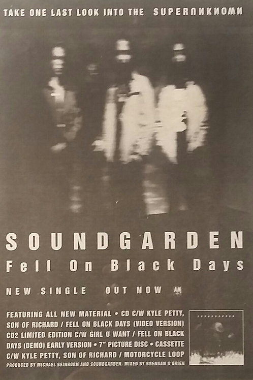 Soundgarden ‎– Fell On Black Days