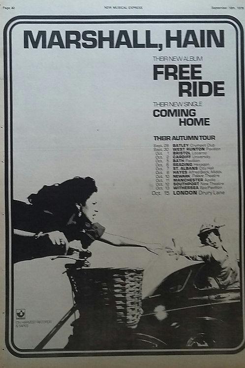 Marshall Hain – Free Ride