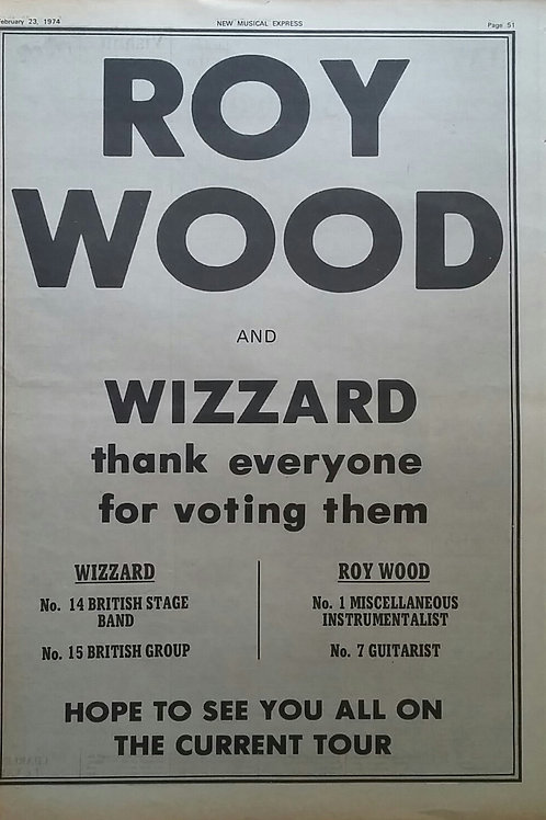 Roy Wood & Wizzard- Tour