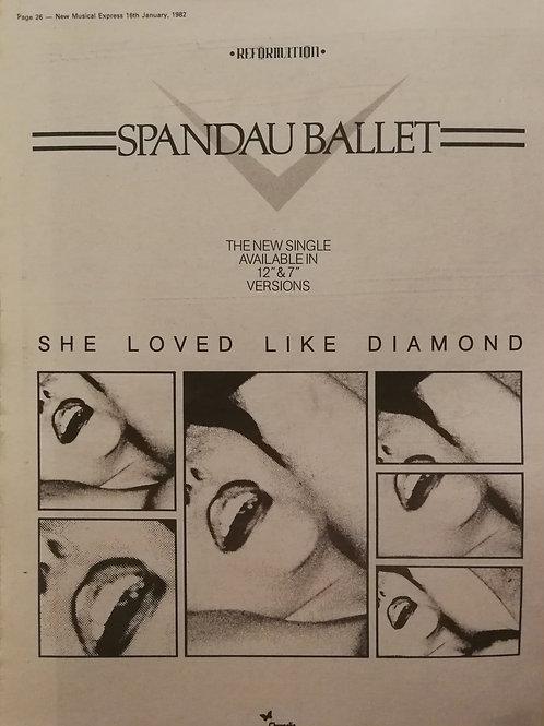 Spandau Ballet - She Loved Like Diamond