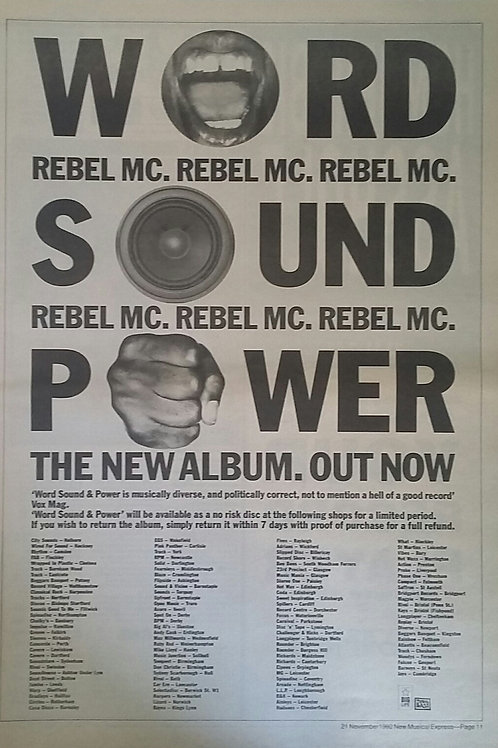 Rebel MC ‎– Word, Sound And Power