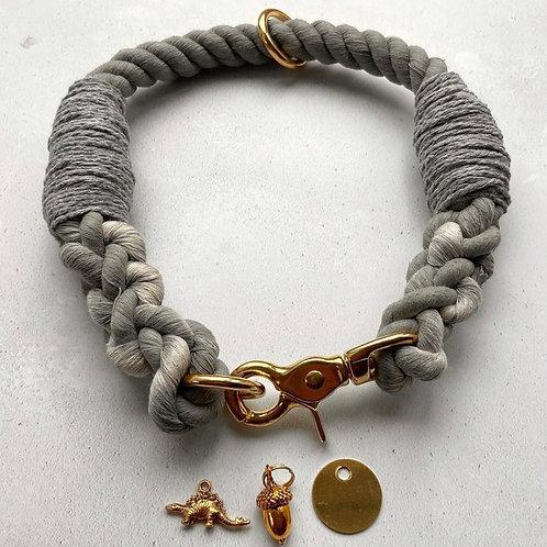 Grey Rope Collar (custom made)