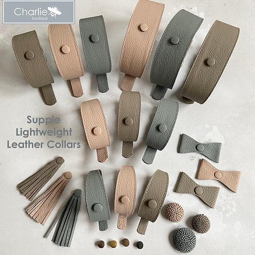 Sighthound Leather Customisable Collars