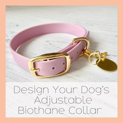Design Your Dog's Adjustable Biothane Collar