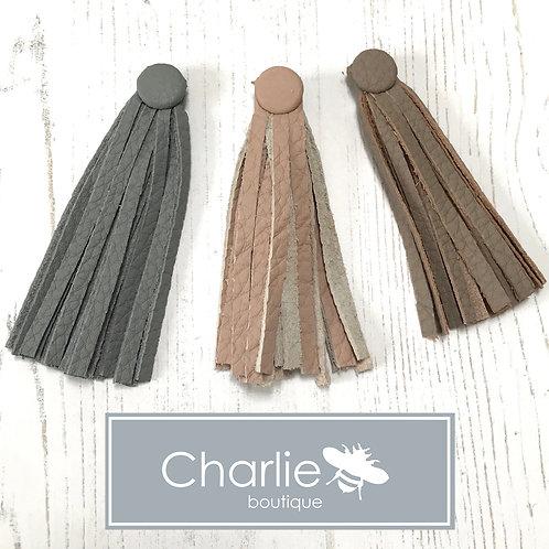 Leather Sighthound Collar Tassel Accessory