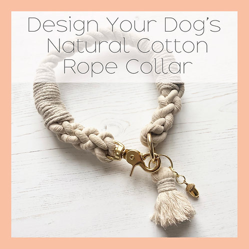 Design your Cotton Rope Dog Collar