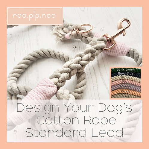 Design Your Dog's Cotton Rope Lead