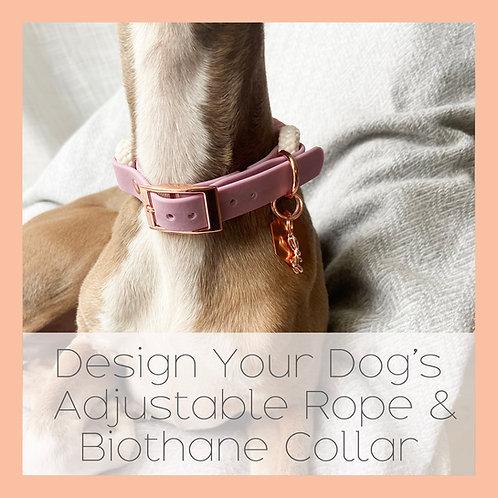 Design Your Dog's Adjustable Rope & Biothane Dog Collar