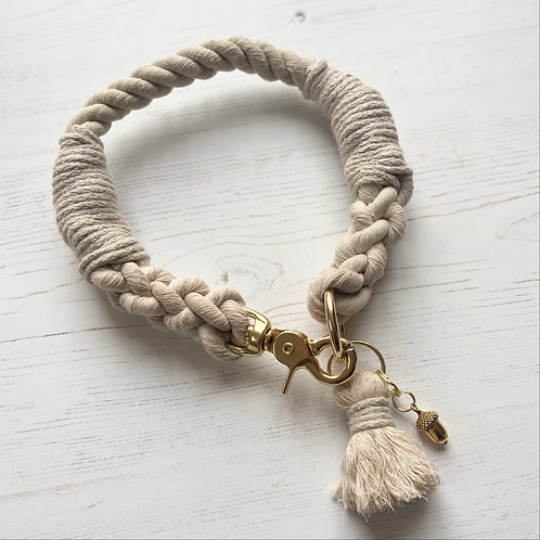 Natural Beige Rope Collar (custom made)