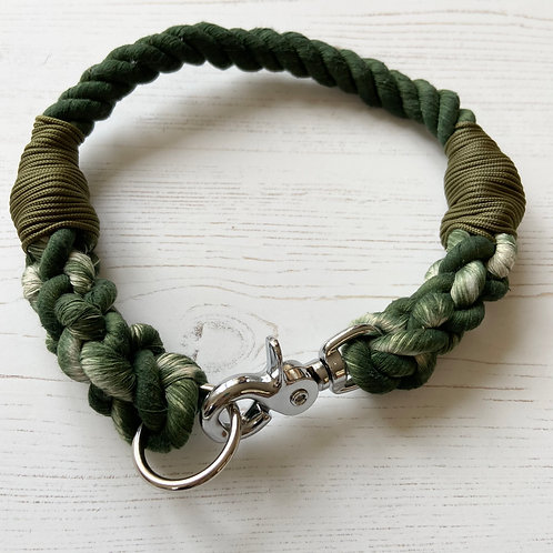 Forest Green Rope Collar (custom made)