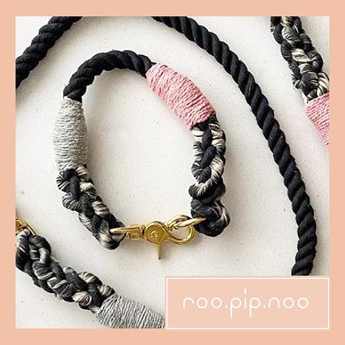 Navy Blue Rope Collar (custom made)
