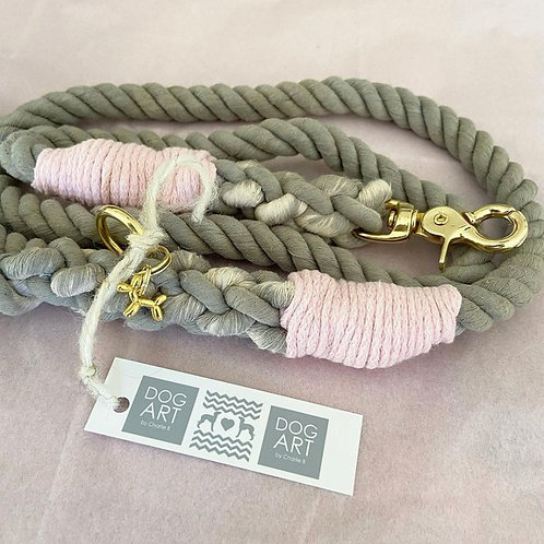 Grey Rope Lead (Custom made)