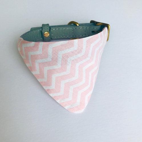 Pink Zigzag Print Bandana (small)