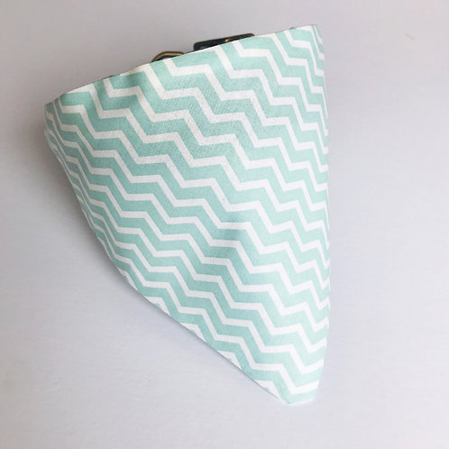 Mint Zig Zag Bandana (medium/large)