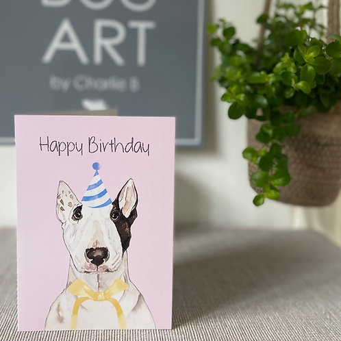 Bull Terrier Birthday Cards x5
