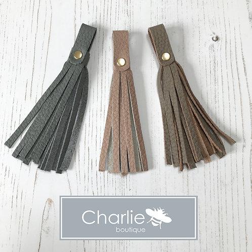 Leather Collar Tassel Accessory