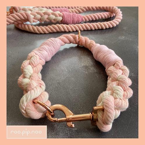 Pale Pink Rope Collar (custom made)