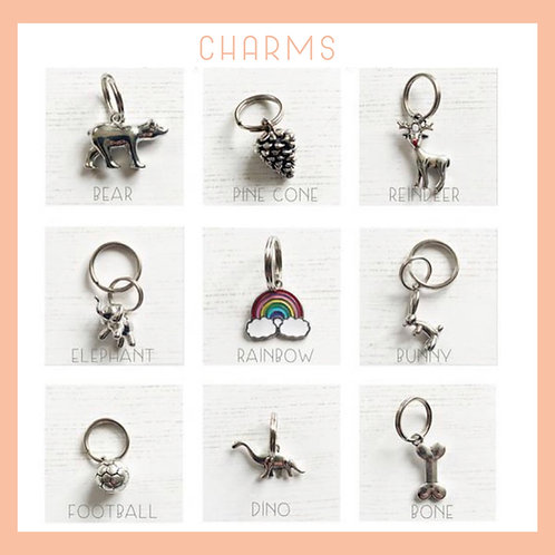 Collar Charms, sold only with a collar or lead
