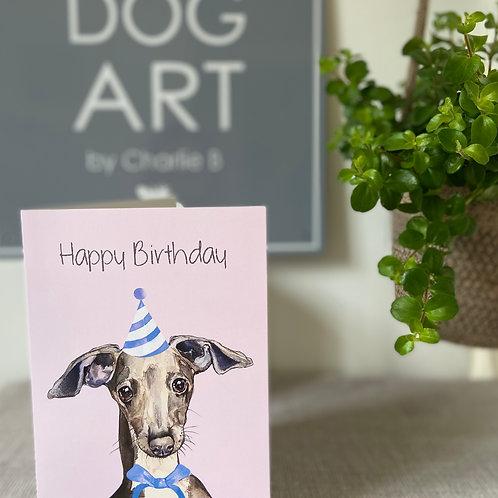 Italian Greyhound Birthday Cards x5