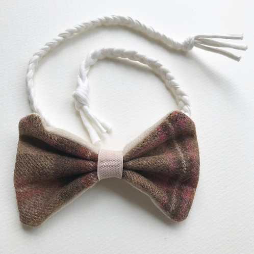 Large Tweed Bow/Dickie bow