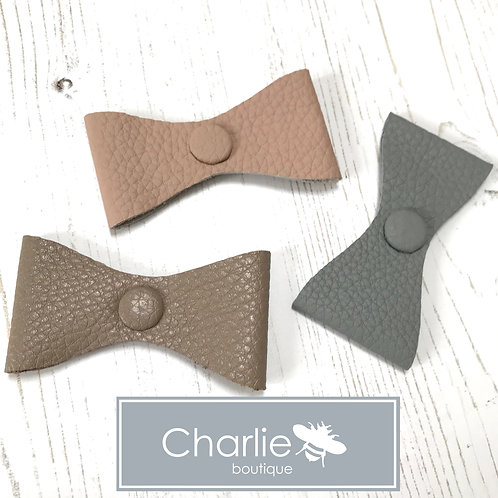 Leather Sighthound Collar Bow Accessory