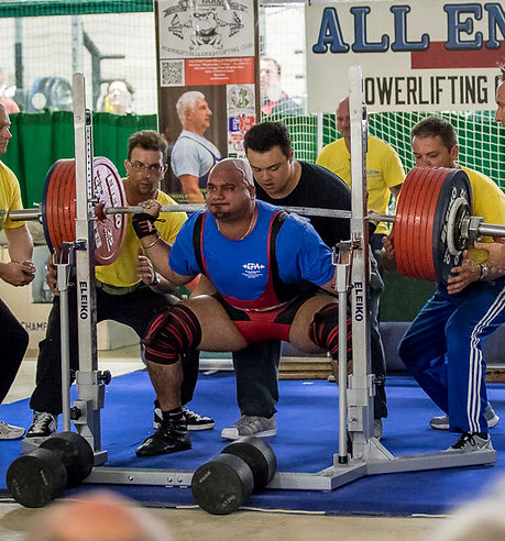Dean Bowring attempts the heaviest Benchpress of the 2012 GBPF Four Nations Championship