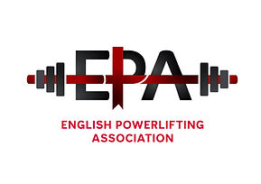 The official logo of the English Powerlifting Association.  The EPA is a Home Nation of the Great Britain Powerlifting Federation.  The GBPF is a Drug Tested Powerlifting organisation and is affiliated to the International Powerlifting Federation.