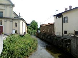Il Morla tra via dei Prati e la chiesa vecchia di Campagnola