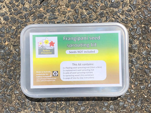 Frangipani seed sprouting kit (seeds NOT included)