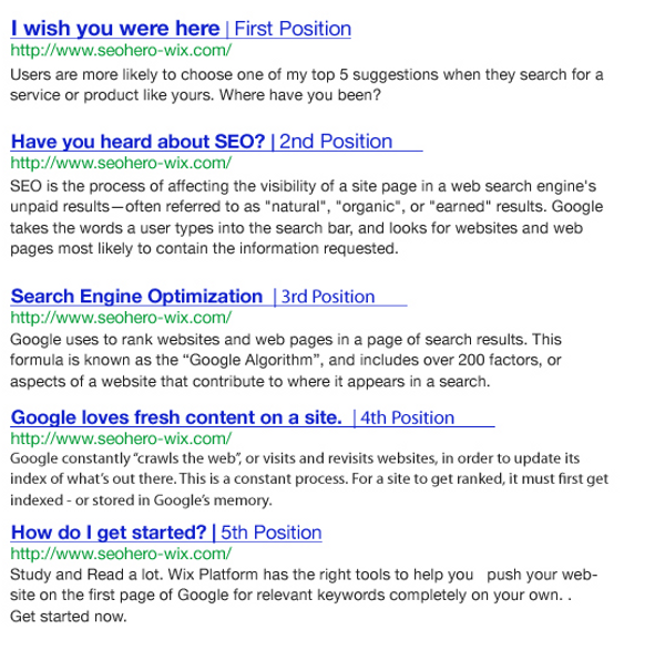 OK GOOGLE, How do I get on the first page of Google? SEO Hero Wix Google Search Engine Optimization