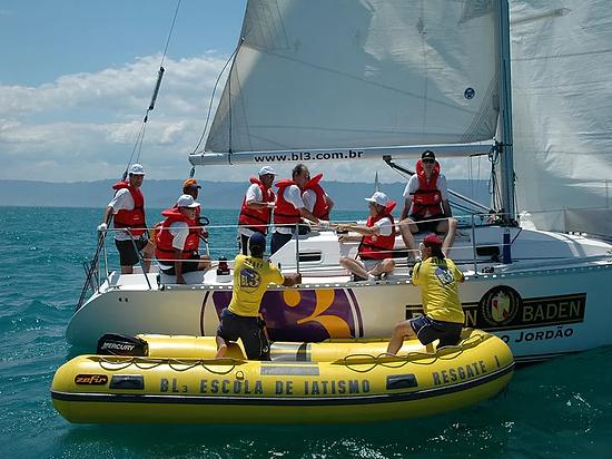 Participaçao em Regata como um tripulante da BL3 Escola de iatismo