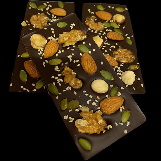 TABLETAS DE CHOCOLATE CON FRUTOS SECOS