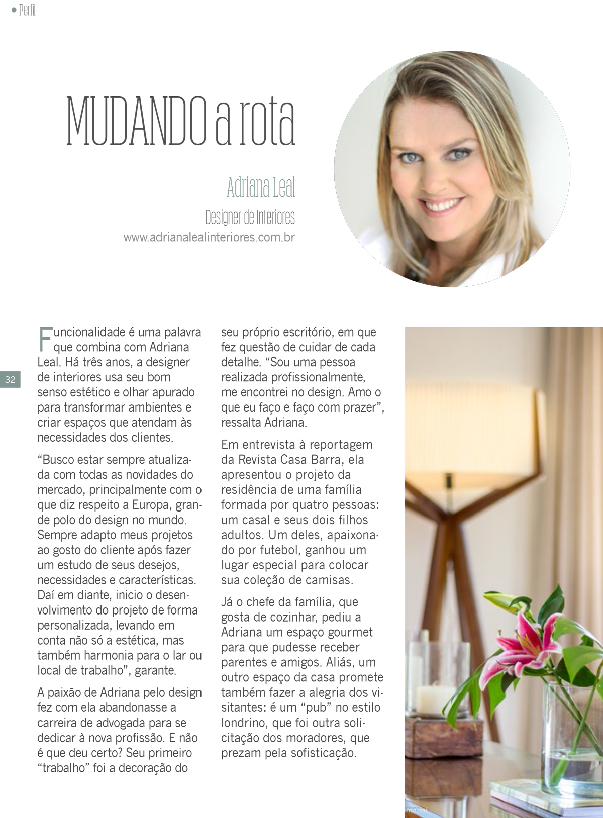 Perfil Adriana Leal, Designer