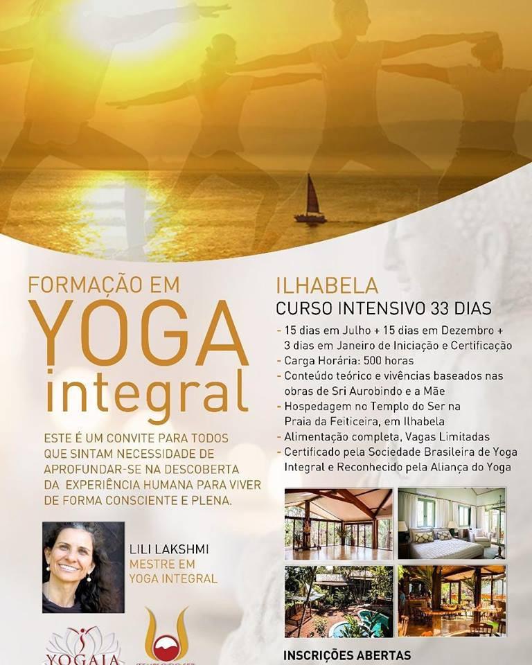 Curso de Yoga Integral Intensivo em Ilhabela, com Lili Lakshmi