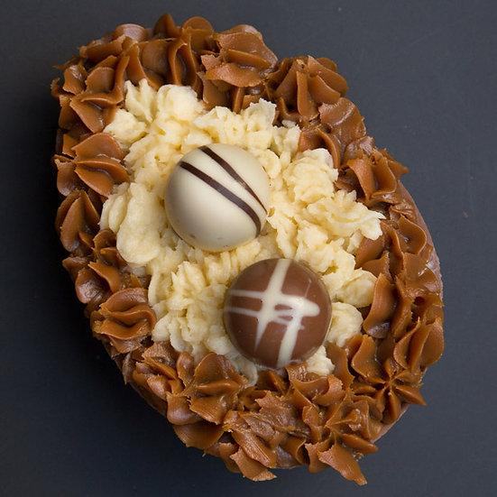 Huevo de Pascua con Coco y Dulce de Leche